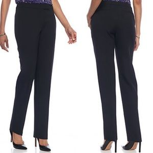 NWT Anne Klein Solid Flat Front Pants
